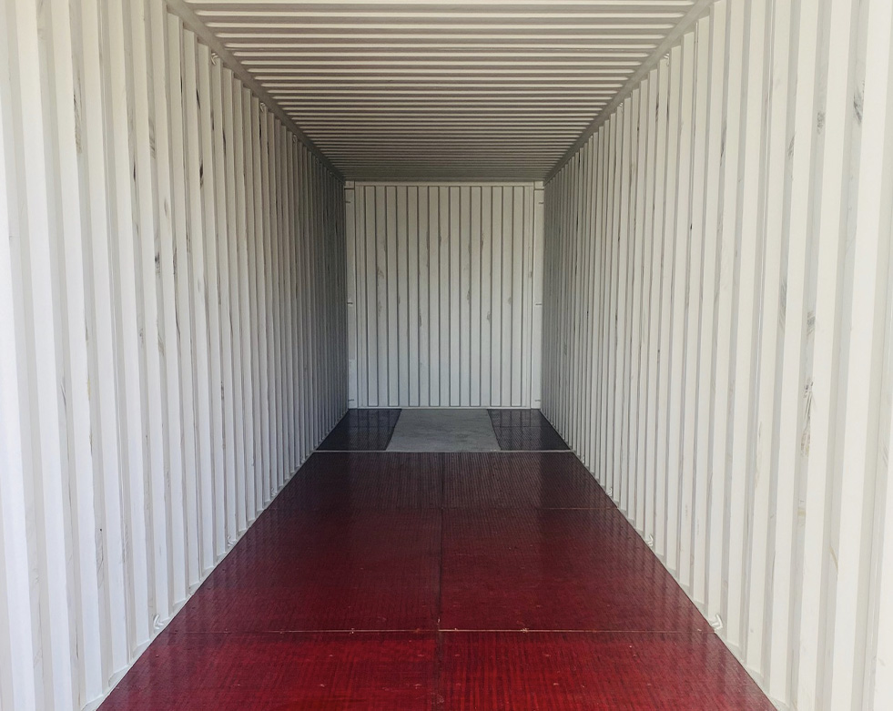 The inside of a brand new Refrigerated Shipping Container for sale