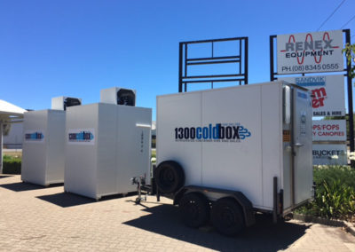 3 cool rooms one on a trailer demonstrating how easy they are to transport delivery to a client in the Adelaide suburb of salisbury