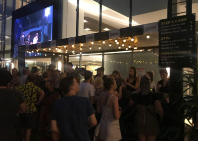 20ft Container conversion lighting up the night at Flinders University student festival