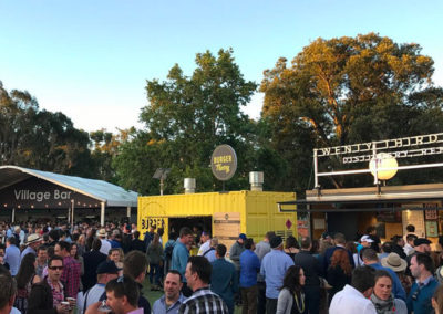 20ft container kiosk conversion for Burger Theory serving at events and festivals
