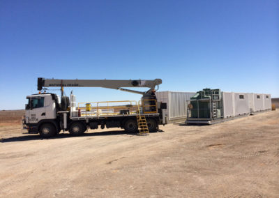 Shipping container offices and ablution units for the camps in regional SA