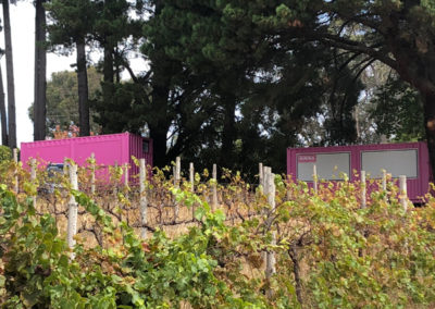 Container dressing room in Adelaide Hills for Channel 7 filming