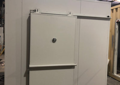 A newly built Coolroom with a front sliding door tube installed in Adelaide central market