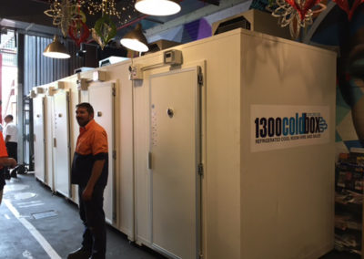 The refrigeration plant on the back of a Coolroom and trailer for a client in Gawler
