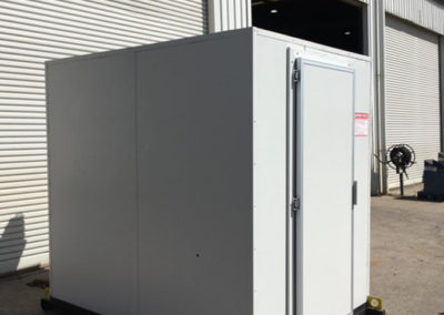 A large Coolroom built with two refrigeration plants for use in a Mining camp in South Australia