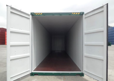 Inside a 40ft shipping Container available for hire