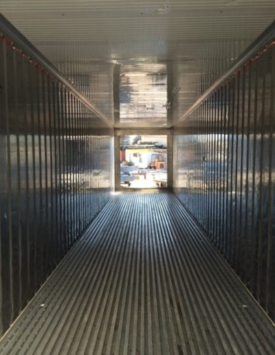Inside a NOR (Non Operating Reefer)