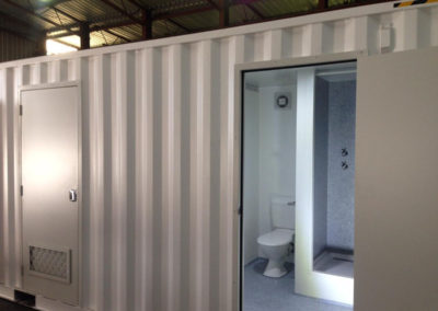 Shipping container bathroom