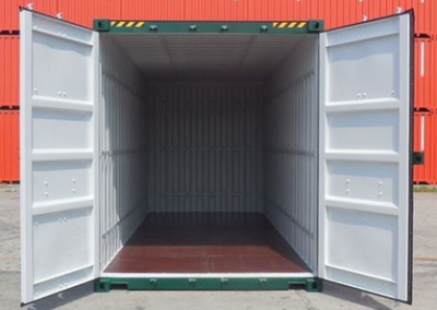New 20ft shipping container Stock with Tie Rails, available for hire