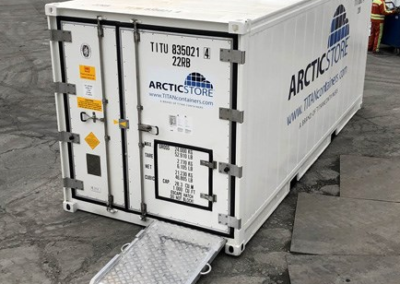 Refrigerated shipping container modification