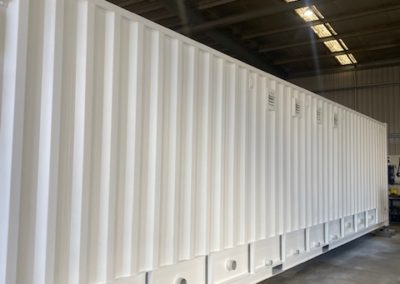 40ft rear of ablution block for QLD powerunit site