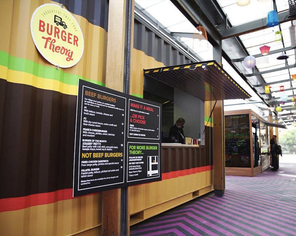 Burger Theory - container kitchens toilets & bathrooms