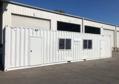 External view of EXACT Contracting 40ft mobile shipping container office