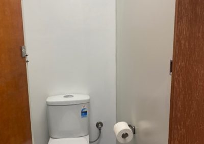 One out of eight toilets in 40ft shipping container ablution block