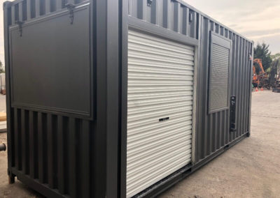 Filipino Project 20ft container cafe wth kitchen and servery with rollershutter access to BBQ area