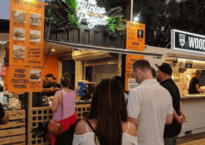Filipino Project shipping container conversion in full swing at Gluttony food festival