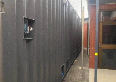 G.A.A.S 20ft shipping container ablution on site at a Port Adelaide school