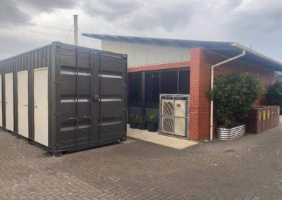 G.A.A.S 20ft shipping container conversion to a toilet block at Port Adelaide Christian College