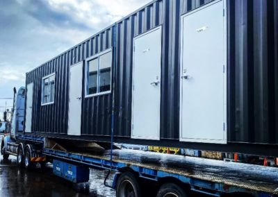 G.A.A.S 40ft container ablution block modification en route to a farm in remote South Australia