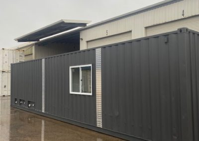 G.A.A.S completed 40ft container office with ablution facilities