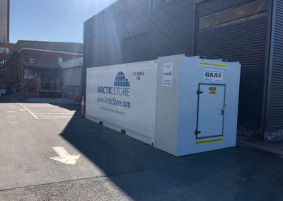 Shipping container modification done for Artic Store