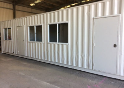 Kitchen and office conversion from 40ft shipping container for Port Kembla mining site