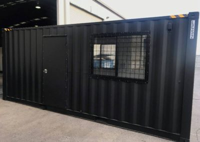 LCS Mobile container office completed fabrication in G.A.A.S offices ready for delivery to site.