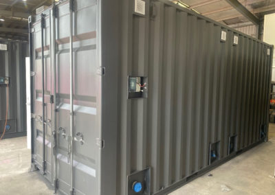 Shipping Container conversion for school toilet block built in G.A.A.S Containers wroskshop and delivered to Port Adelaide Christian College